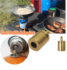 Brass Gas Refill Adapter for Camping Hiking Picnic Stove Inflate Butane Canister