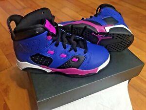 New Girls Air Jordan Purple Pink Sneakers Size 11
