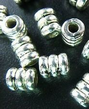 80pcs Tibetan Silver Screw Tube Spacer Beads R158