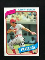 1980 Topps #100 Johnny Bench Baseball Card~NM-MT/MINT~Centered~High Grade