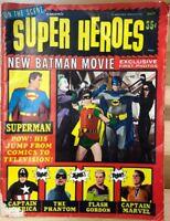 ON THE SCENE presents SUPER HEROES #1 (1966) Warren Publications b&w magazine VG