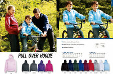 Kids Boys Girls  Anti Pill Fleece Pull Over Hoodies Jumper with Kangaroo Pocket