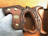 Disston No. 12 Saw - 12TPI Crosscut Handsaw - Blade is Sharp