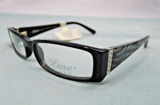 Luxe Eyeglass Frames Women Swarovski Black WLO315 Glasses Rx-able MSRP $119 SA