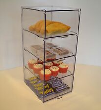 Small Bakery Pastry Display Case Stand Cabinet Cakes  Cupcakes - Four Tiers