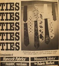 Mens VTG 70s Hancock Fabrics TIES TIES TIES Pattern & How to Tie a Windsor Knot!