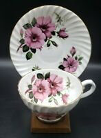 Stanley Fine Bone China Tea Cup & Saucer England Wild Pink Roses