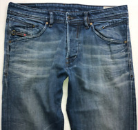 Mens DIESEL Belther Jeans W32 L32 Blue Regular Slim Tapered Wash 0848Z_STRETCH