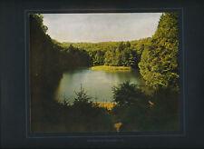 Baasee bei Freienwalde 1913 orig. frühe Farbenphotographie, auf Karton montiert