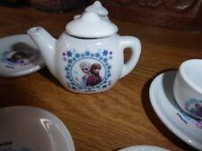 Vintage miniature teaset cups saucers teapot Disney-play time?dolls set?display