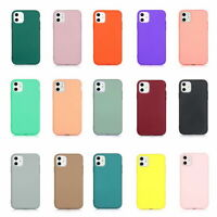 For iPhone 11 Pro Max XS XR 8 7 Plus Slim Shockproof Simple TPU Soft Case Cover