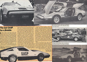 33 LOT Ill-Fated BRICKLIN SV1 Gullwing, RARE Magazine Clips