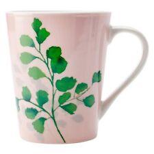NEW Christopher Vine Green House Ferns On Pink Mug, 420ml