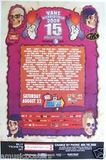 WARPED 2009 CONCERT TOUR POSTER: NOFX, 3OH!3, Less Than Jake,Thrice,All Time Low