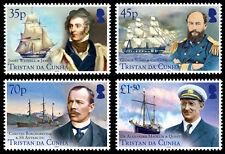 Tristan da Cunha 2014 Ships & Explorers 4v set MNH