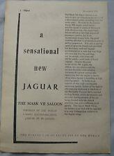 1950 Jaguar Mark VII saloon Original advert No.1