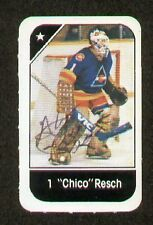 Chico Resch signed autograph auto 1982-83 Post Cereal NHL Hockey Card