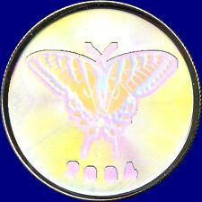 "2004 Canada 50 Cent ""Hologram""Tiger Swallowtail 9.3 Grams .925 Silver in Capsule"