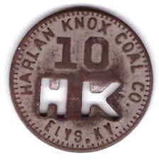 Harlan Knox Coal Mining Co Scrip 10 Elys Kentucky KY County Token Barbourville M