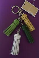 Michael Kors 💯%Authentic Cascading Tassel Leather Key Fob Key Chain Bag Charm