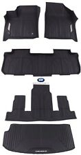 2018-2019 Chevrolet Traverse Front 2nd 3rd Cargo All Weather Floor Liners Black