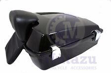 Vivid Black Razor Tour Pak for Harley Davidson Touring + Premium latches, hinges