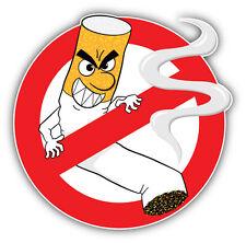 Funny No Smoking Sign Car Bumper Sticker Decal 5'' x 5''