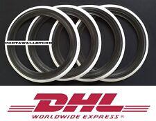 13'' Black&White wall Portawall tire insert Trim set of 4