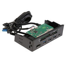"""1PC 5.25"""" Media Dashboard Multi-Function Front Panel Card Reader USB3.0 & Type-c"""