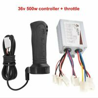 DC 36v 500w Motor Brushed Controller Throttle Grip For Electric Scooter Bike ATV