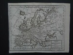 1811 Atlas BRION DE LA TOUR  map  EUROPE - Carte de L'Europe par M. Brion