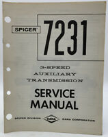 Spicer Service Manual 3 Speed Auxiliary Transmission 7231 Shop Repair 19-3045X