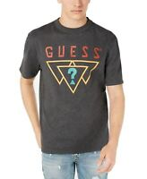 Guess Mens T-Shirt Gray Size 2XL Crewneck Triangle Logo Graphic Tee $39 #187