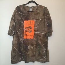 Code V -RED THE BONE Brown Camouflage Short Sleeve T-Shirt Size 2XL 100% cottton