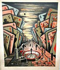 Juanita Guccione Surrealist Signed Color Lithograph