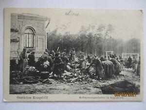 Polen Augustowo Aufräumarbeiten Feldpost 21. AK 1915