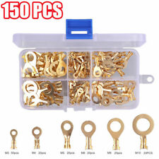 NON INSULATED BRASS RING EARTH CRIMP TERMINALS  3mm 4mm 5mm 6mm 8mm 10mm