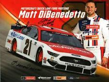 Autographed by Wood Brothers 2020 Matt DiBenedetto #21 Motorcraft Postcard