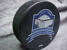 NHL 1931-1999 Memories & Dreams Toronto Maple Leaf Gardens Souvenir Hockey Puck