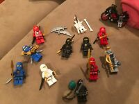 LEGO Ninjago lot of minifigures and some TMNT + motorcycle (COMES AS SHOWN)
