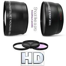 Hi-Def Wide Angle Telephoto and Filter Set For Canon XA35 XA30 XF200 XF205 XA20