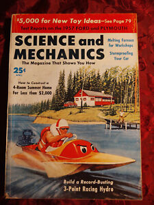 SCIENCE and MECHANICS April 1957 Racing Hydro FORD Fairlane PLYMOUTH Belvedere