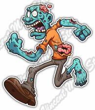 "Zombie Vampire Dead Run Corpse Freak Funny Car Bumper Vinyl Sticker Decal 4""X5"""