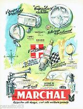 PUBLICITE ADVERTISING 026  1954  Marchal bougies phares avertisseur