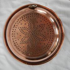 Large Antique French Copper Sieve / Colander / Strainer - pre 1900 (E)
