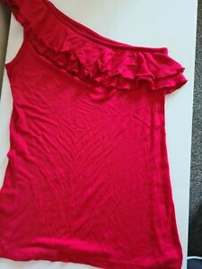 Woman's Pink Off The Shoulder Summer Top From Papaya Size 12