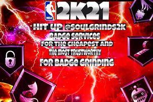 NBA 2K21 Badge Grinding; Fast & Cheap✅  PS4,XBOX ONE (Read Description💯)