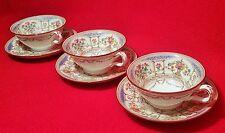 3 HAZLEMERE mintons teacup & saucer antique porcelain vtg english tea cup plate