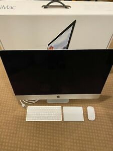 Apple iMac 27in Retina 5K display 1TB Intel Core i5 Late 2015+ Magic Trackpad 2