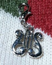 Lyre Music Instrument Charm Tibetan Silver Bookmark  Scrapbooking Bracelet